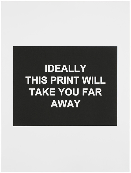 Ideally This Print Will Take You Far Away (détail), 2016